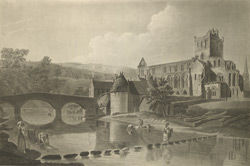 View of Jedburgh Abbey 90.a